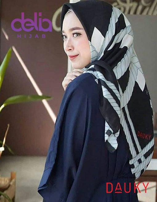 Kerudung Segi Empat Motif - Milana Scarf - Dauky Hijab 1