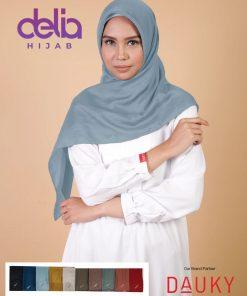 Kerudung Segi Empat Motif - Monza Scarf - Dauky Hijab 1