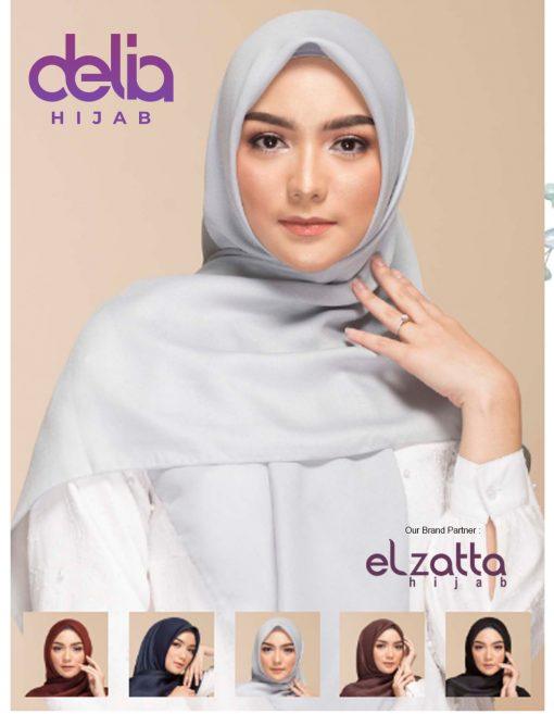 Kerudung Segi Empat Polos - Keisha Savana - Elzatta Hijab