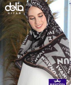 Kerudung Segiempat Motif - Happy Day Scarf - Hijab Mandjha