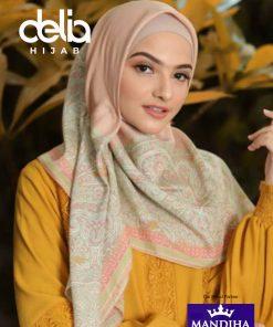 Kerudung Segiempat Motif - Love Story Scarf - Hijab Mandjha