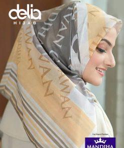 Kerudung Segiempat Motif - Monogram Abstract Scarf - Hijab Mandjha
