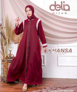 Baju Gamis Modern 2020 Terbaru - Khansa Dress - Delia Hijab M