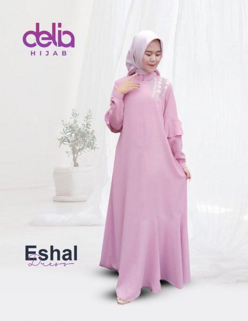 Baju Gamis Wanita Terbaru - Eshal Dress - Delia Hijab - Detail