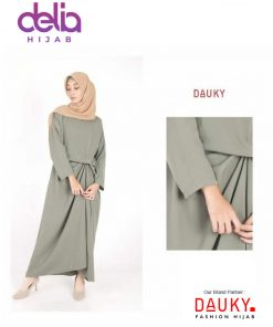 Baju Gamis Modern - L Dress Dienta - Dauky Fashion B