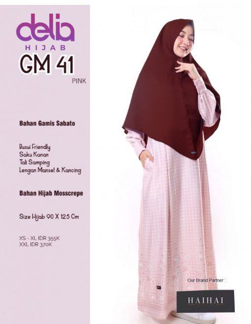 Baju Gamis Syar'i Modern - Gamis Dewasa Premium HaiHai GM 41 - P
