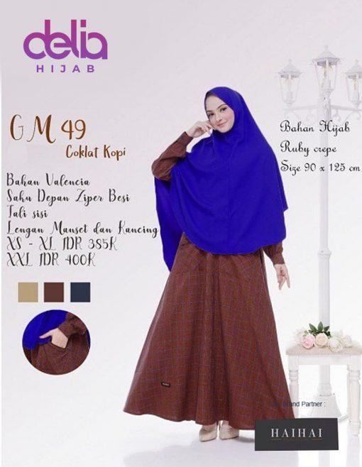 Baju Gamis Syar'i Modern - Gamis Dewasa Premium HaiHai GM 49