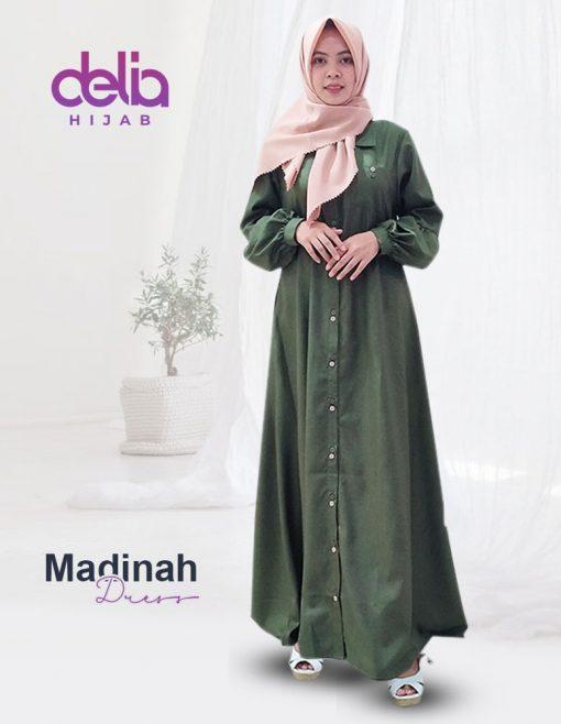 Baju Gamis Polos – Madinah Dress – Delia Hijab