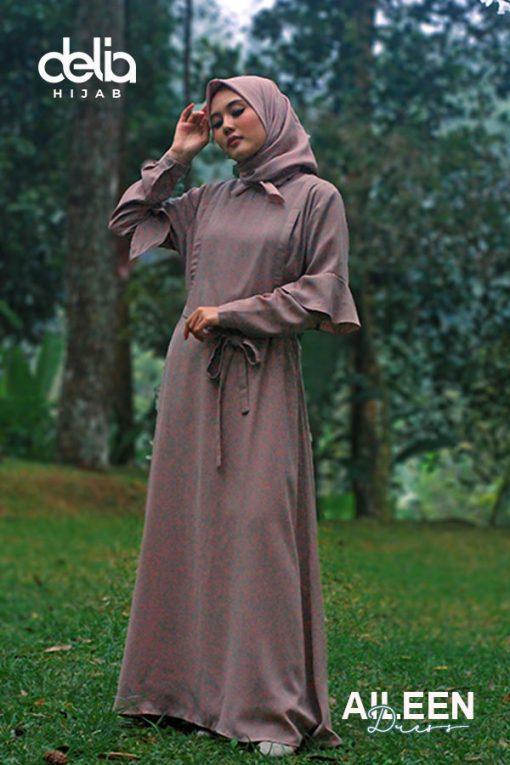 Baju Gamis Model Sekarang - Aileen Dress - Delia Hijab 1
