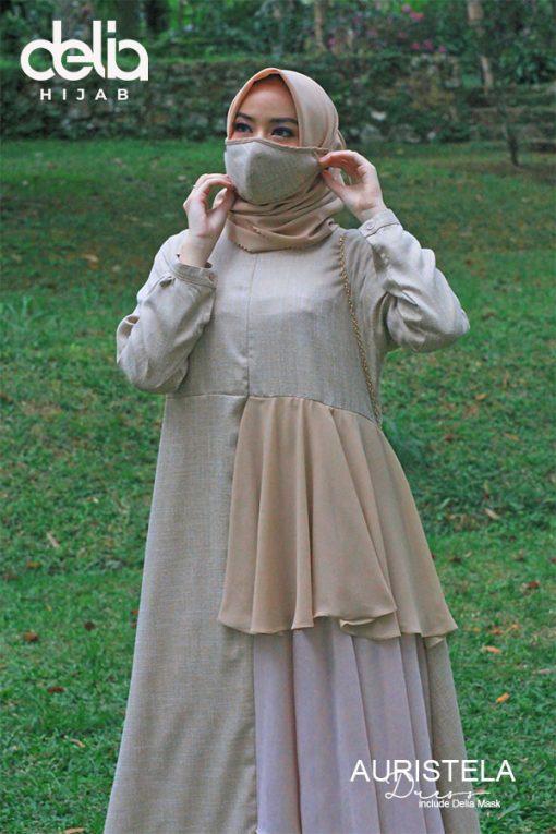 Baju Gamis Model Sekarang - Auristela Dress - Delia Hijab 1