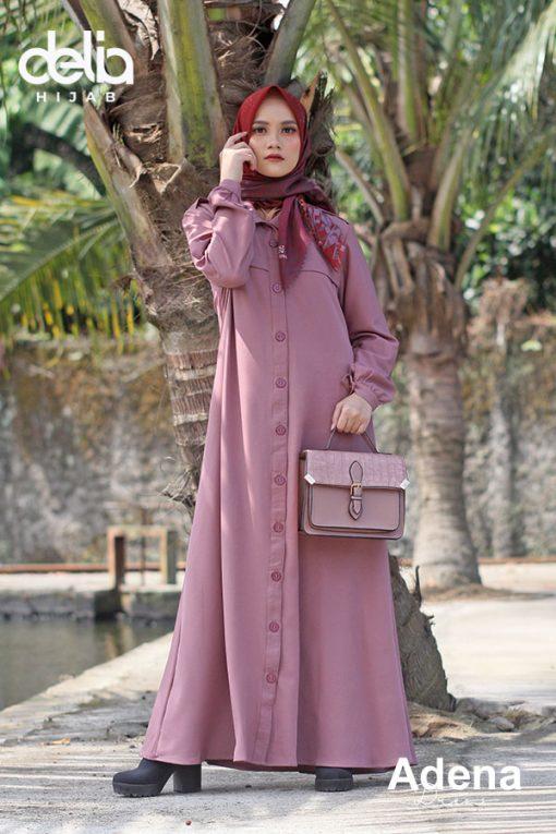 Baju Gamis Modern – Adena Dress – Delia Hijab