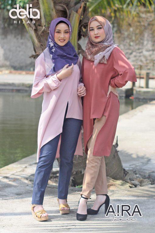 Baju Muslim Casual - Aira Tunic - Delia Hijab 1