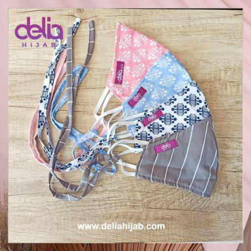 Masker Kain 2 Lapis - Masker Hijab Motif 1 - Delia Hijab
