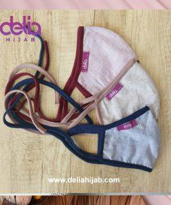 Masker Kain 2 Lapis - Masker Hijab Polos A - Delia Hijab