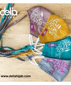 Masker Kain 2 Lapis - Masker Kain Bordir Autumn 1 - Delia Hijab