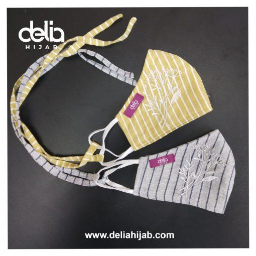 Masker Kain 2 Lapis - Masker Kain Bordir Autumn 3 - Delia Hijab