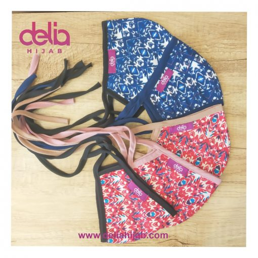 Masker Kain 2 Lapis - Masker Kain Motif Ethnic Pattern - Delia Hijab
