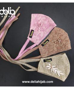Masker Kain 3 Lapis - Masker Brokat harmony - Delia Hijab