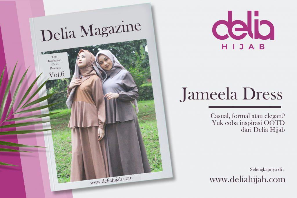 Model Baju Gamis Simple Ootd Gamis Jameela Dress Delia Hijab