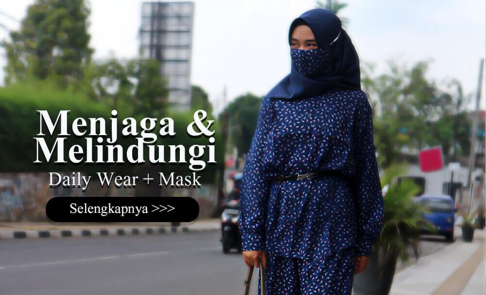 Cat 1 Masker Delia Hijab - Melindungi