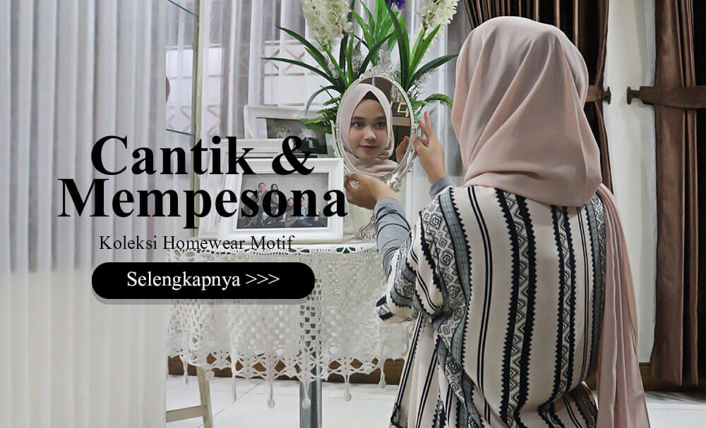 Cat 4 Homewear Fashion Hijab Motif - Cantik