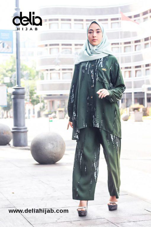 Tie Dye Fashion - Set Blouse Aline - Delia Hijab