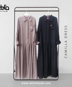Baju Gamis Modern - Camilla Dress - Delia Hijab 2