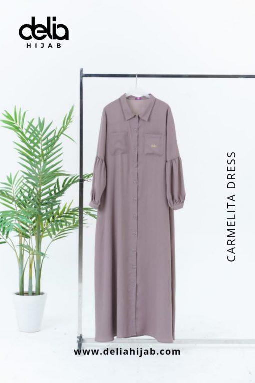 Baju Gamis Modern - Carmelita Dress - Delia Hijab