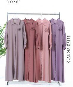 Baju Gamis Modern - Charlotte Dress - Delia Hijab
