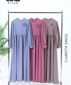 Baju Gamis Modern - Claretta Dress - Delia Hijab