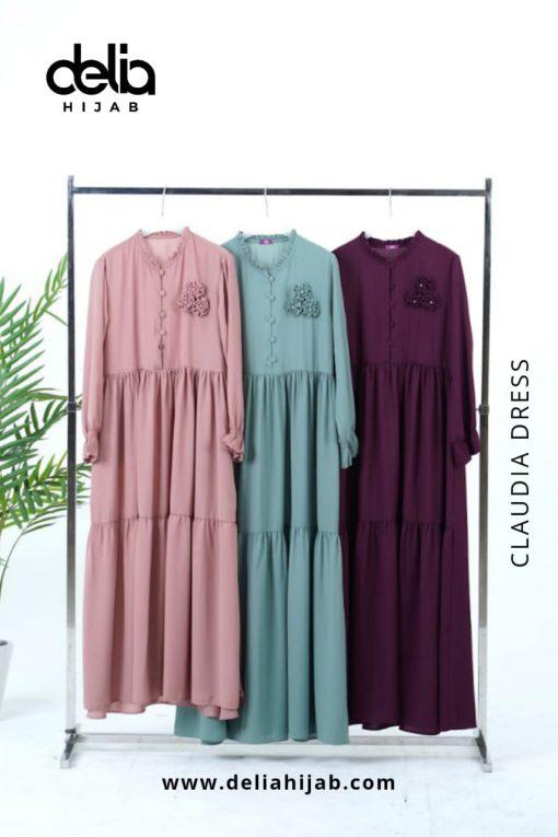 Baju Gamis Modern - Claudia Dress - Delia Hijab