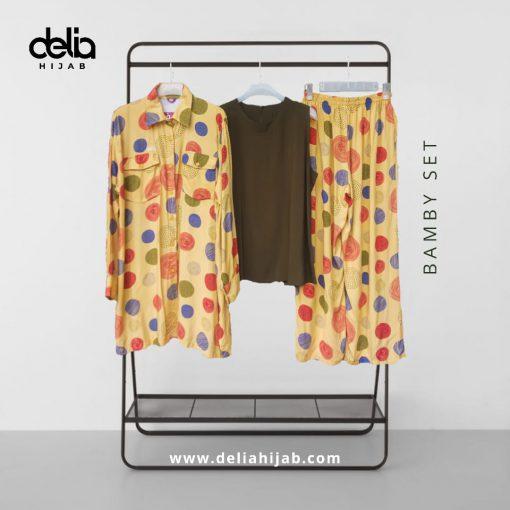 Baju Muslim Casual - Bamby Set - Delia Hijab