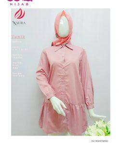 Baju Muslim Casual - Tunik Zhafira - Rumah Naura Pink