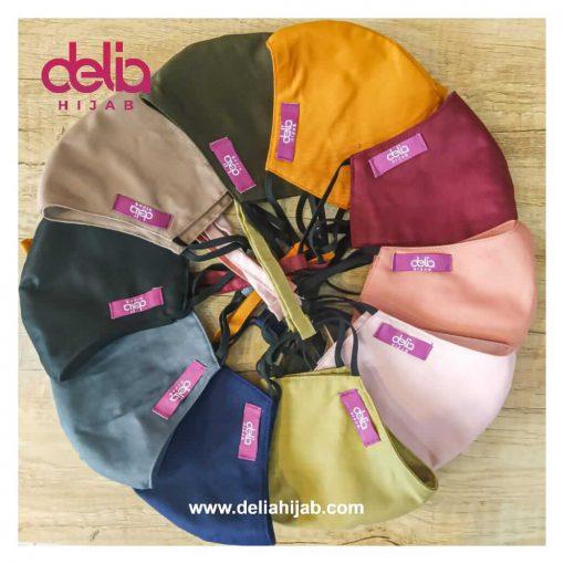 Masker Kain 2 Lapis - Masker Polos Tali - Delia Hijab