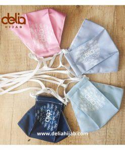 Masker Kain 2 Lapis - Masker Print Delia Dewasa - Delia Hijab