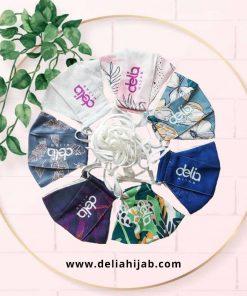 Masker Kain 2 Lapis - Masker Print Motif - Delia Hijab