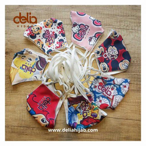 Masker Kain Anak - Masker Anak Karakter - Delia Hijab