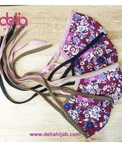 Masker Kain Motif - Masker Motif Batik - Delia Hijab