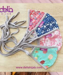 Masker Kain Motif - Masker Motif Floral - Delia Hijab 2