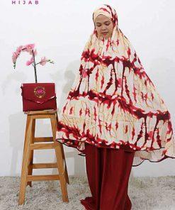 Mukena Tie Dye - Mukena Ariella - Delia Hijab