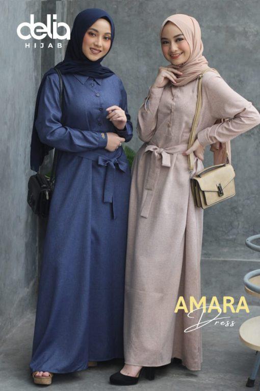 Baju Gamis Modern - Amara Dress - Delia Hijab