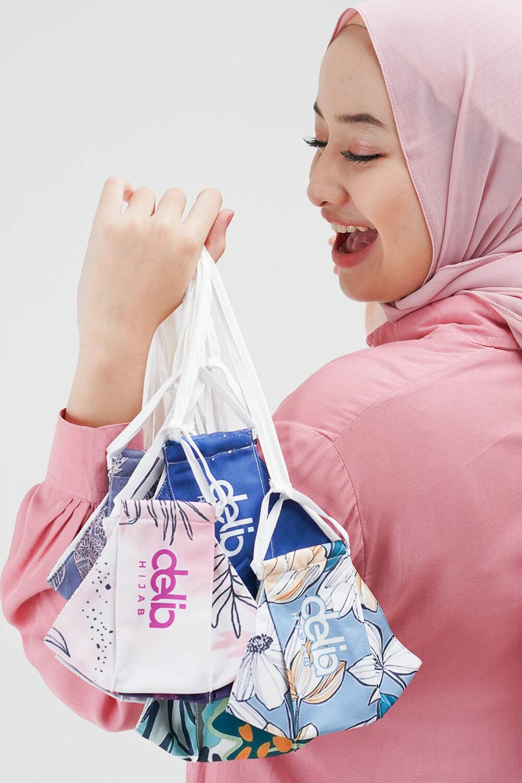 Masker Delia Hijab - Masker Kain 2 Lapis Hijab 1