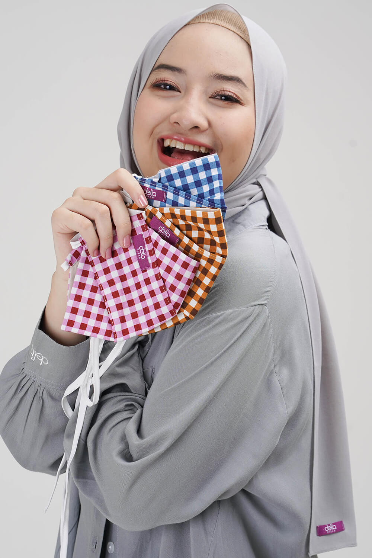 Masker Delia Hijab - Masker Kain 2 Lapis Hijab 3