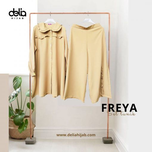 Setelan Muslim Casual - Freya Set Tunik - Delia Hijab