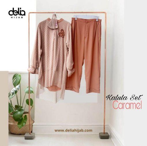 Baju Atasan Renda - Kalula Set - Delia Hijab Caramel