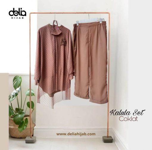 Baju Atasan Renda - Kalula Set - Delia Hijab Coklat