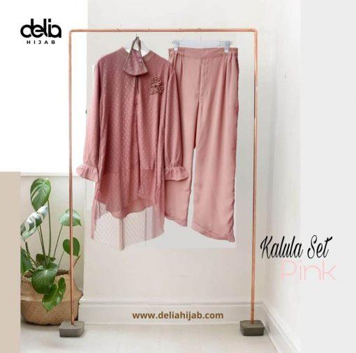 Baju Atasan Renda - Kalula Set - Delia Hijab Pink
