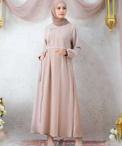 Baju Gamis Renda - Kamila Dress - Delia Hijab Cream