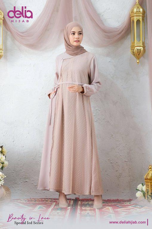 Baju Gamis Renda - Kamila Dress - Delia Hijab Cream