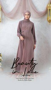 Baju Gamis Renda Modern - Baju Muslim Lebaran 2021 - Delia Hijab M